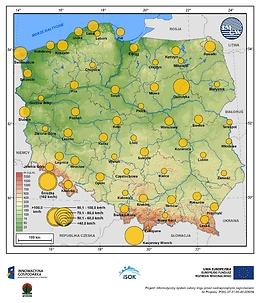 Maksymalne średnie 10-min prędkości wiatru w maju