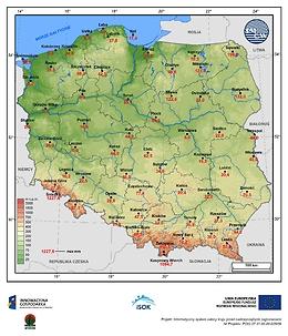 Maksymalny zapas wody w pokrywie śnieżnej w I dekadzie kwietnia